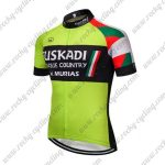 2018 Team EUSKADI Cycling Jersey Maillot Shirt Green Black