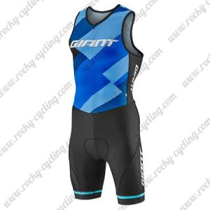 2018 Team GIANT Cycling Skin Suit Speedsuit Triathlon Blue Black