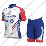 2018 Team Groupama FDJ Cycle Kit White Blue Red