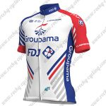 2018 Team Groupama FDJ Cycling Jersey Maillot Shirt White Blue Red