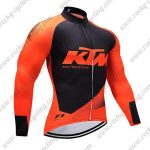 2018 Team KTM Cycling Long Jersey Orange Black