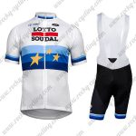2018 Team LOTTO SOUDAL European Champion's Cycling Bib Kit White