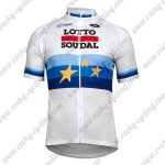 2018 Team LOTTO SOUDAL European Champion's Cycling Jersey Maillot Shirt White