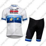 2018 Team LOTTO SOUDAL European Champion's Riding Kit White