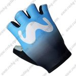 2018 Team Movistar Cycling Gloves Riding Mitts Blue Black