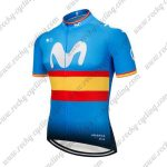 2018 Team Movistar Spain Cycling Jersey Maillot Shirt Blue