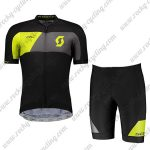 2018 Team SCOTT Biking Kit Black Yellow