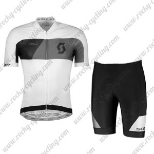 2018 Team SCOTT Biking Kit White Black