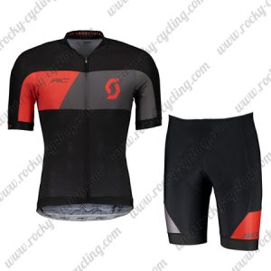 2018 Team SCOTT Cycle Kit Black Red