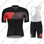 2018 Team SCOTT Cycling Bib Kit Black Red