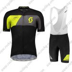 2018 Team SCOTT Cycling Bib Kit Black Yellow