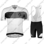 2018 Team SCOTT Cycling Bib Kit White