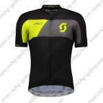 2018 Team SCOTT Cycling Jersey Maillot Shirt Black Yellow