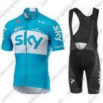 2018 Team SKY Riding Bib Kit Blue