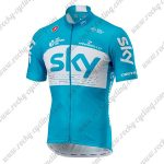 2018 Team SKY Riding Jersey Maillot Shirt Blue