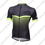2018 Team Santini Cycling Jersey Shirt Black Green