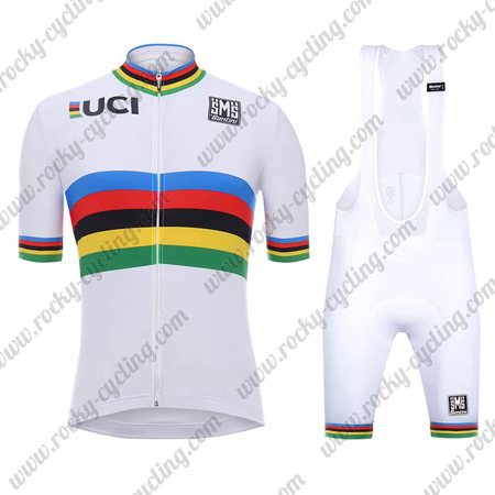 2018 Team Santini UCI Champion Biking Outfit Cycle Jersey and Padded ... 5fa4bfed9