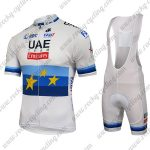 2018 Team UAE Emirates European Champion Cycling Bib Kit White