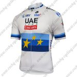 2018 Team UAE Emirates European Champion Cycling Jersey Shirt White