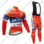 2018 Team VINI FANTINI NIPPO Cycling Long Bib Suit Colorful