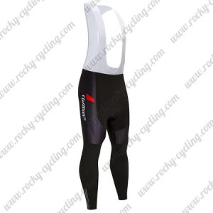 2018 Team Wilier Cycle Long Bib Pants Tights Black Red