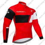2018 Team Wilier Cycle Long Jersey Red