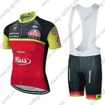 2018 Team Wilier ITALIA Cycle Bib Kit Black Red Yellow