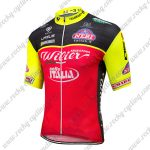 2018 Team Wilier ITALIA Cycle Jersey Shirt Black Red Yellow