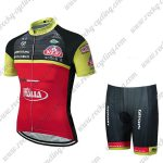 2018 Team Wilier ITALIA Cycle Kit Black Red Yellow