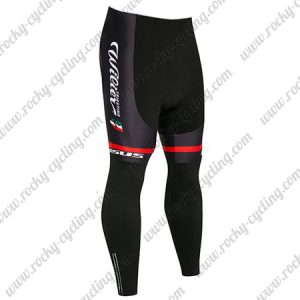 2018 Team Wilier ITALIA Cycle Long Pants Tights Black Red