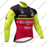 2018 Team Wilier ITALIA Cycling Long Jersey Black Red Yellow
