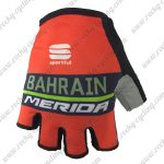 2018 Pro Team BAHRAIN MERIDA Cycling Gloves Mitts Red Blue