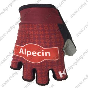 2018 Pro Team KATUSHA Alpecin Cycling Gloves Mitts Red
