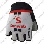 2018 Pro Team Sunweb Cycling Gloves Mitts White Black Red