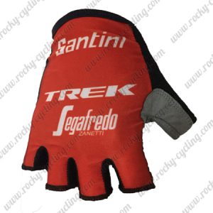 2018 Pro Team TREK Segafredo Cycling Gloves Mitts Red