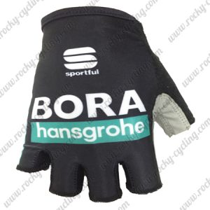 2018 Team BORA hansgrohe Cycling Gloves Mitts Black