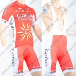 2018 Team Cofidis Cycling Bib Kit Red White