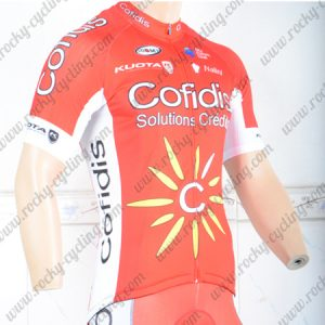 2018 Team Cofidis Cycling Jersey Shirt Red White