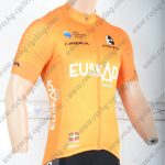 2018 Team EUSKADI Cycling Jersey Shirt Yellow