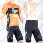 2018 Team Roompot Cycling Bib Kit Yellow Black