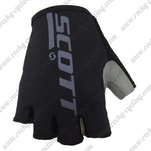 2018 Team SCOTT Cycling Gloves Mitts Black Grey