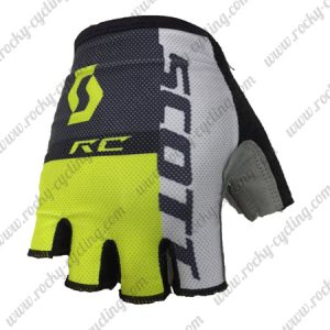 2018 Team SCOTT Cycling Gloves Mitts Grey Black Yellow