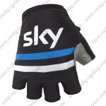 2018 Team SKY Cycling Gloves Mitts Black White Blue