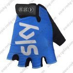 2018 Team SKY Riding Gloves Mitts Blue White