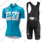 2018 Team SKY Womens Lady Cycle Bib Kit Blue