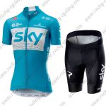 2018 Team SKY Womens Lady Cycling Kit Blue