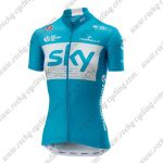 2018 Team SKY Womens Lady Riding Jersey Maillot Shirt Blue