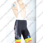 2018 Team Wilier Cycling Bib Shorts Bottoms Black Yellow