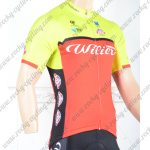 2018 Team Wilier Cycling Jersey Shirt Yellow Red