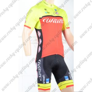 2018 Team Wilier Cycling Kit Yellow Red